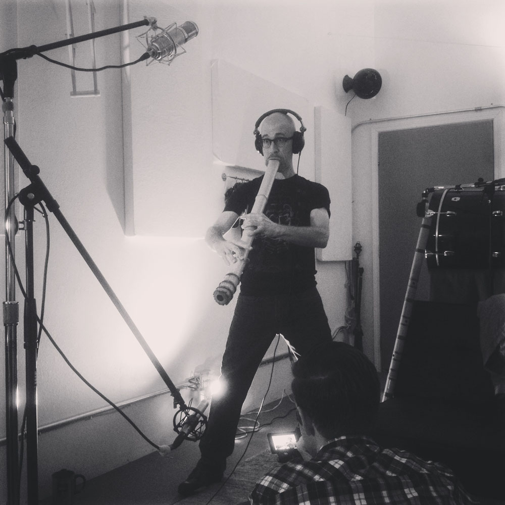 Cornelius Boots recording session for Ghost in the Shell 2013