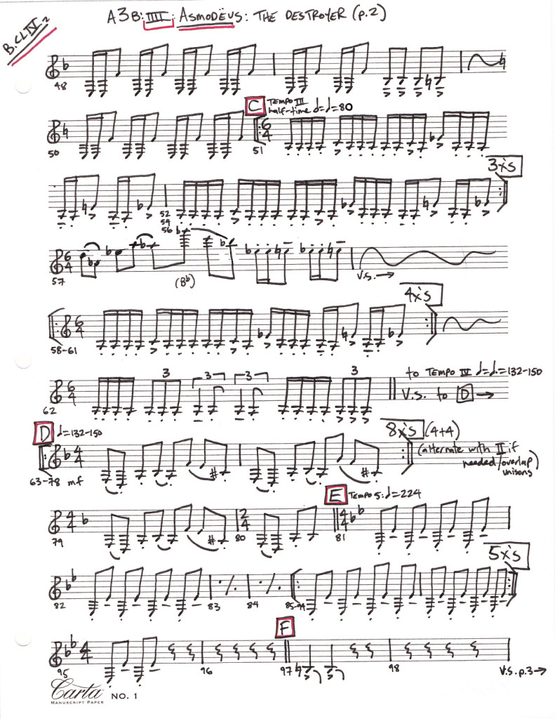 Agrippa sample notation page